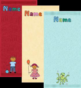 Kleines Baby-Badtuch mit Name und Motiv