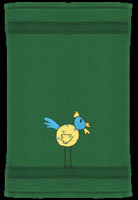 Huhn auf dunkelgrün