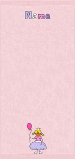 Prinzessin auf rosa