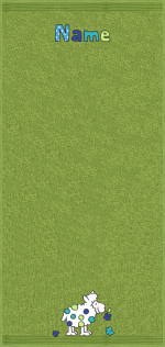 Wolliges Schaf auf moosgrün