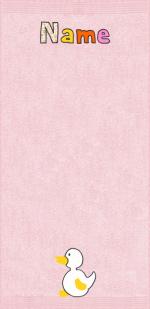 Quakende Ente auf rosa