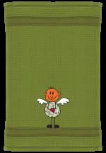 Engel mit Herz auf golfgrün