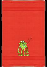 Frosch auf rot