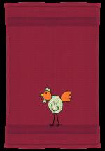 Huhn auf bordeauxrot