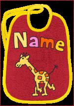 Langhalsgiraffe auf bordeaux