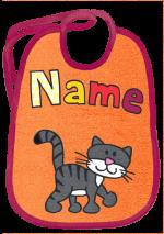 Katze Schnurrli auf orange
